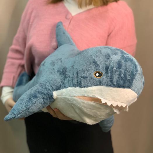 Мягкая игрушка Акула серая
