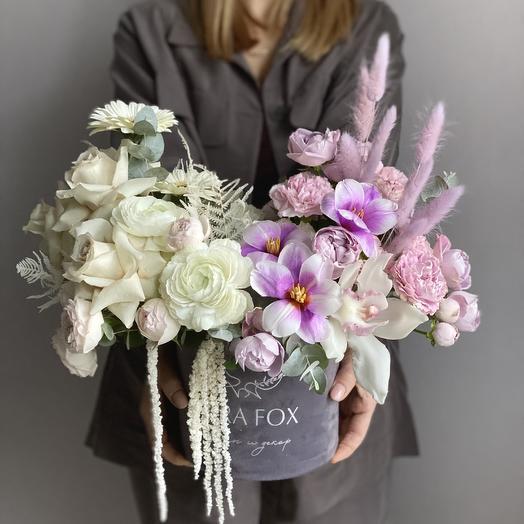 Коробка с цветами «Кассиопея»