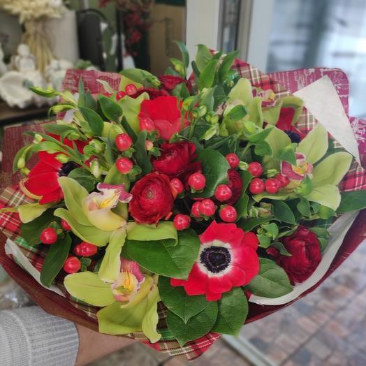Букет цветов Шотландка