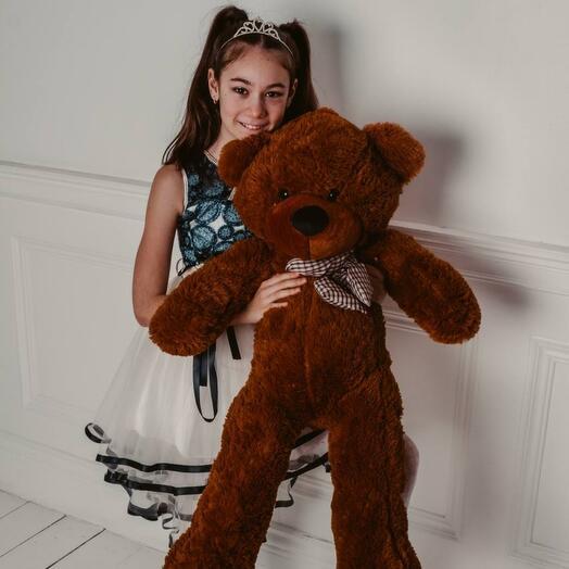 Огромный коричневый Мишка 120 см