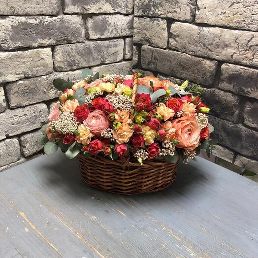 Корзина с цветами « На радость»