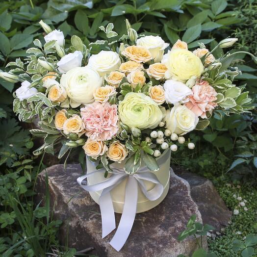 Коробка с цветами «Зефирка»