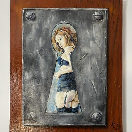"Painting ""Keyhole"" 62*52 cm. oil on canvas"