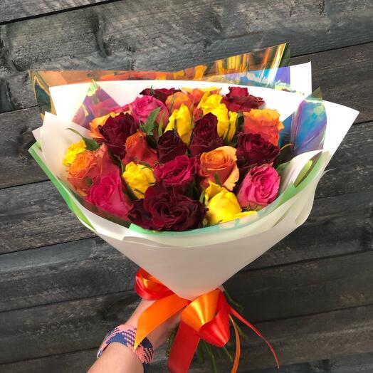 Микс из 29 роз