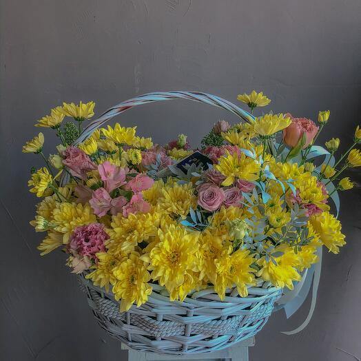 """Корзина цветов """"Раннее утро"""""""