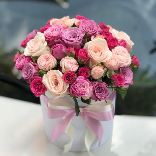 Коробка роз « Счастливый день»
