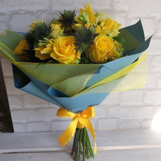 "Букет ""Золотые небеса"": букеты цветов на заказ Flowwow"