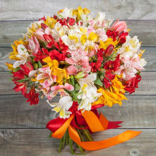 Альстомерия микс: букеты цветов на заказ Flowwow