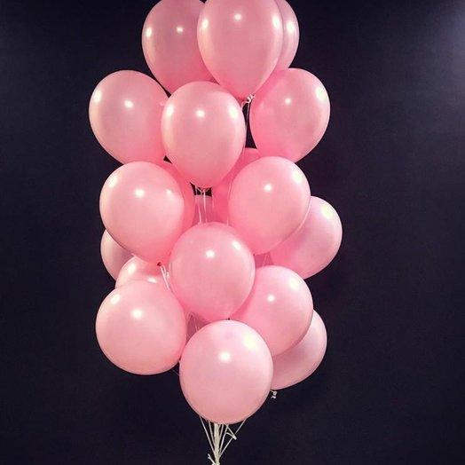 Розовые воздушные шары 25 шт: букеты цветов на заказ Flowwow