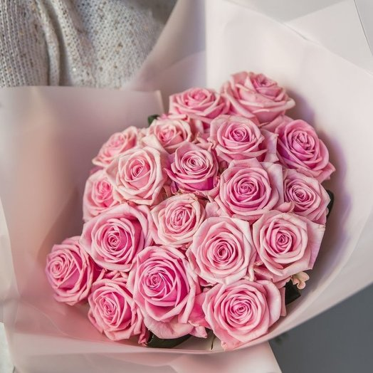 Bouquet of delicate pink roses: flowers to order Flowwow