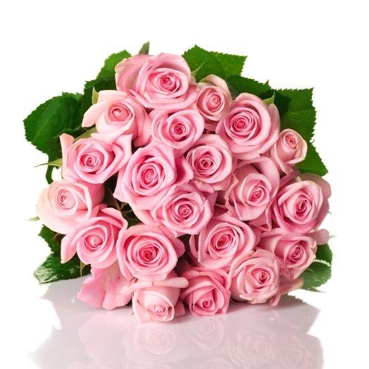 Букет 25 розовых роз: букеты цветов на заказ Flowwow