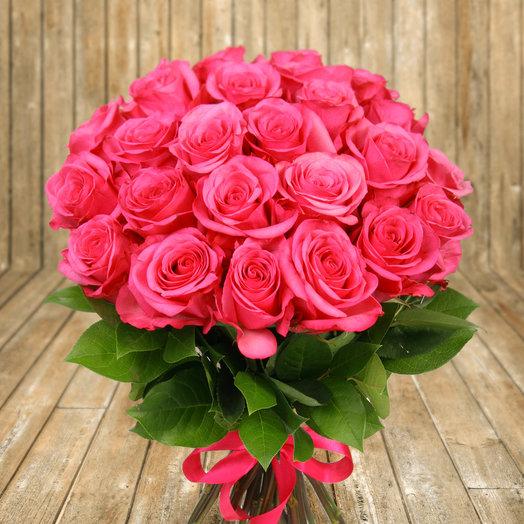 """Букет из 25 розовых роз """"Черри О"""": букеты цветов на заказ Flowwow"""