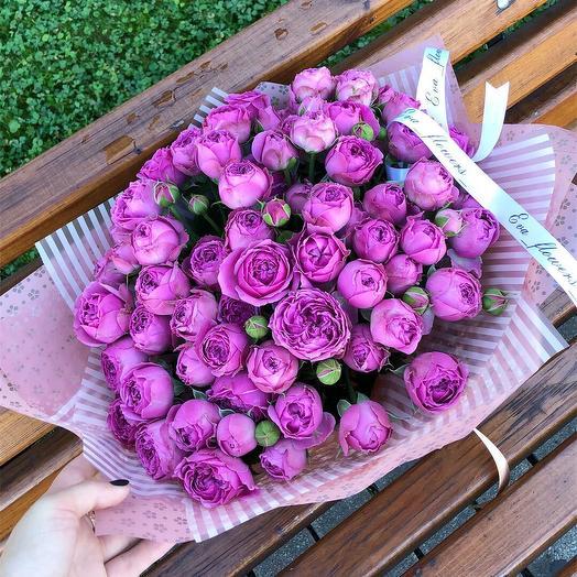 Премиум букет пионовидных роз: букеты цветов на заказ Flowwow
