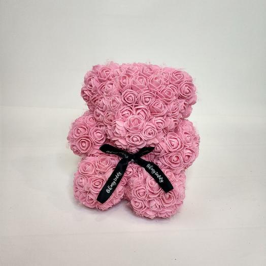 Мишка из 3-д роз: букеты цветов на заказ Flowwow