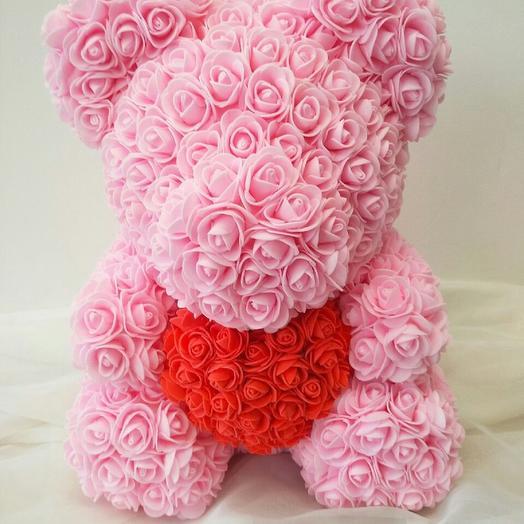 Большой мишка из роз: букеты цветов на заказ Flowwow