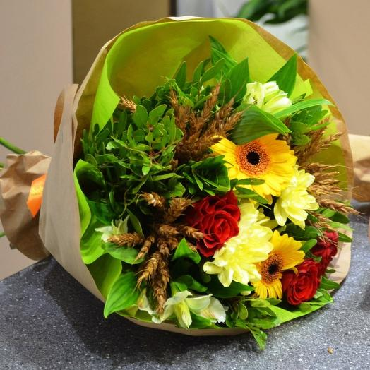 Комплимент с пшеницей 1: букеты цветов на заказ Flowwow