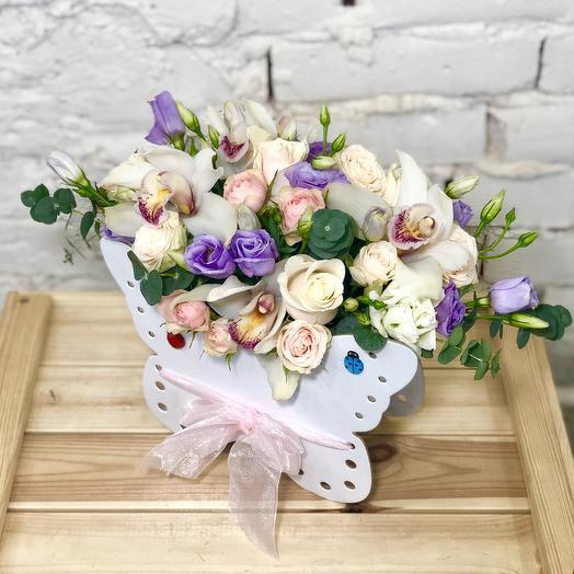 Композиция «Мотылёк»: букеты цветов на заказ Flowwow
