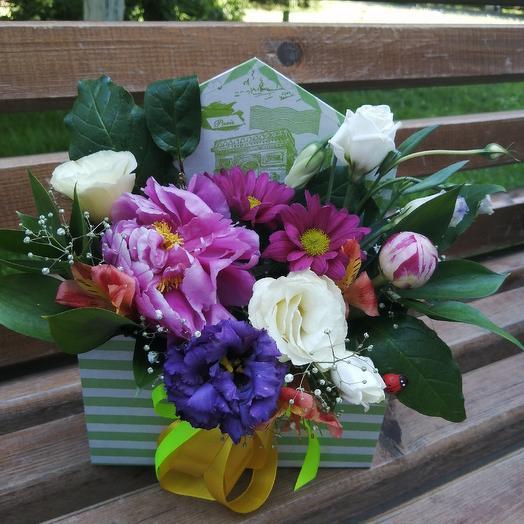 Письмо из живых цветов: букеты цветов на заказ Flowwow