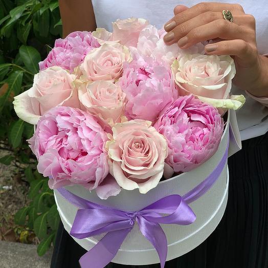 """Пионы и розы """"Для тебя!"""""""