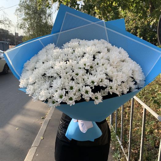 Бомбический букет ромашек: букеты цветов на заказ Flowwow