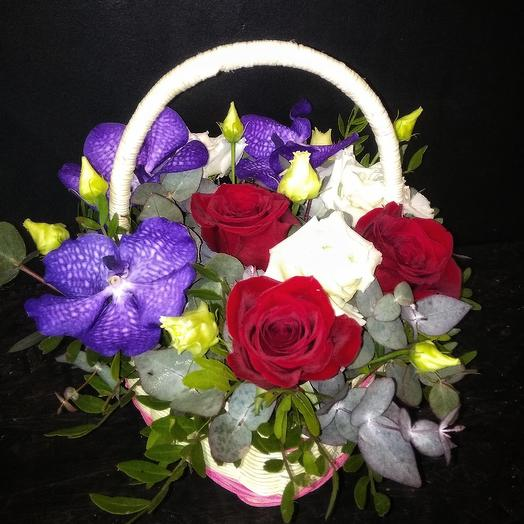 Корзина Лавандовое сердце: букеты цветов на заказ Flowwow
