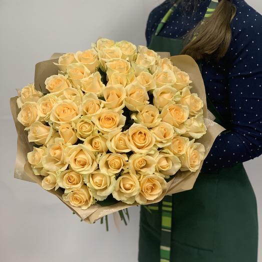 Букет «51 кремовая Роза»