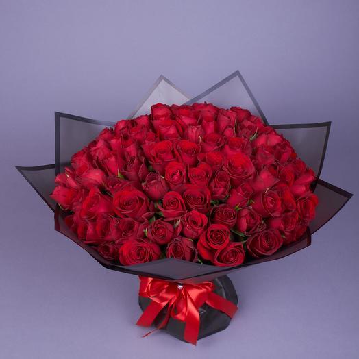 101 кенийская роза Ред Наоми: букеты цветов на заказ Flowwow