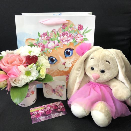 Мишка цветочный: букеты цветов на заказ Flowwow