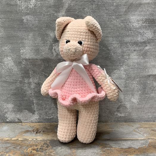 Игрушка «Свинка в платье»: букеты цветов на заказ Flowwow
