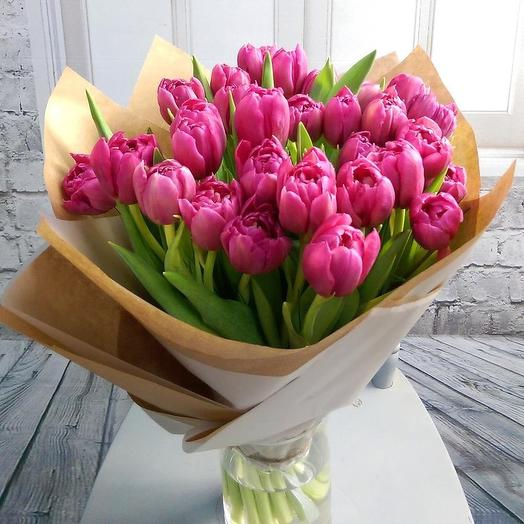 25 pink tulips: flowers to order Flowwow