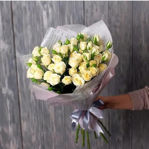 Букет 9 кустовых роз: букеты цветов на заказ Flowwow