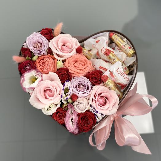 Сердечное признание: букеты цветов на заказ Flowwow