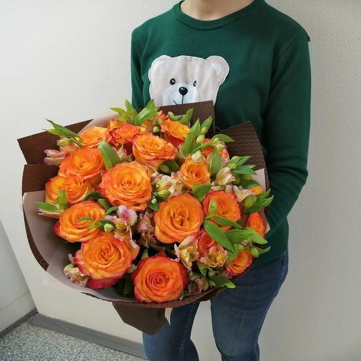 Цитрусовый заряд: букеты цветов на заказ Flowwow