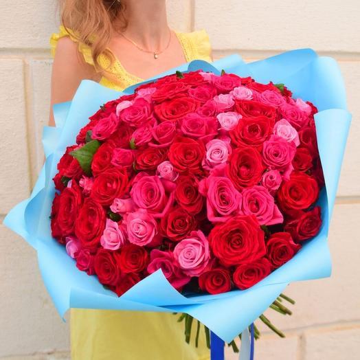 101 роза Восхищение