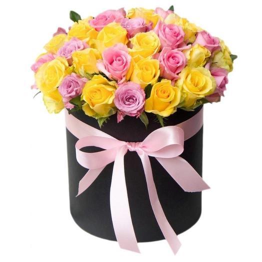 """Цветы в коробке """"Радость"""""""