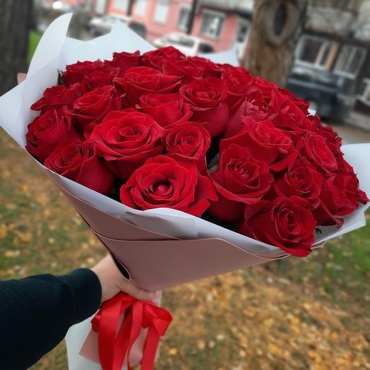 Букет 51 роза в упаковке
