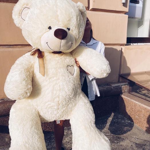 Огромный мишка плюшевый мягкий большой медведь