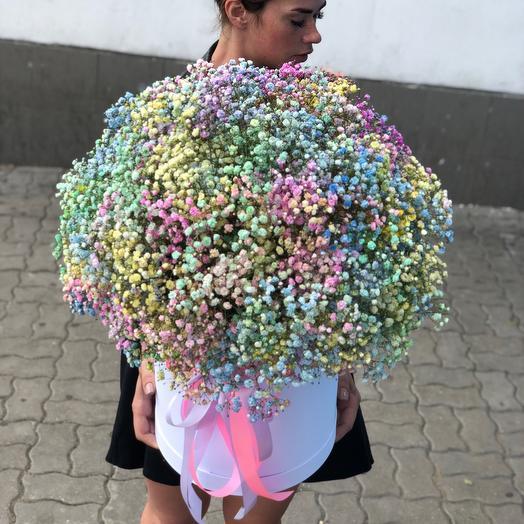 Цветы в коробке «Радуга»