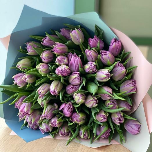 Волшебные пионовидные тюльпаны микс