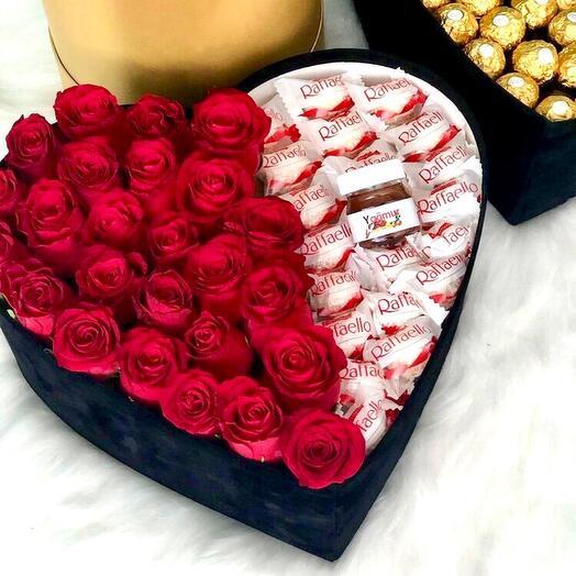 Сердце с розами и Раффаэлло