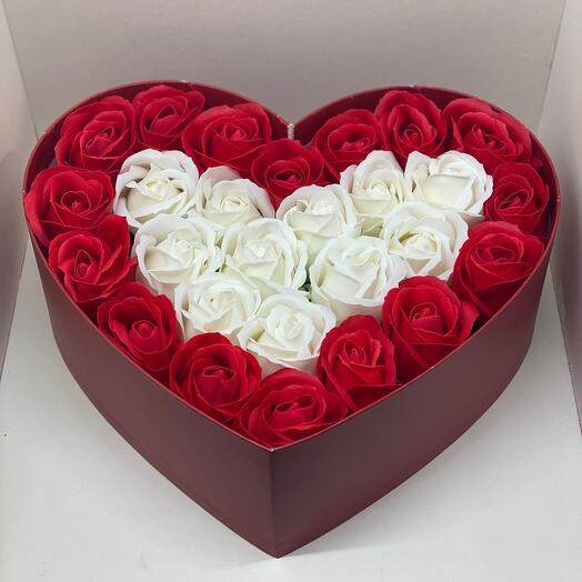 Мыльные розы ( сердце )