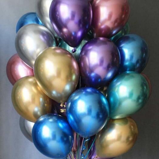 Хромированные гелиевые шары
