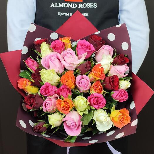 Букет микс из 35 роз