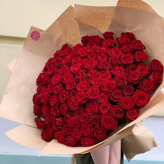 101 Роза с крупным бутоном