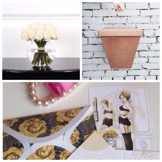 29 белых роз в вазе: букеты цветов на заказ Flowwow