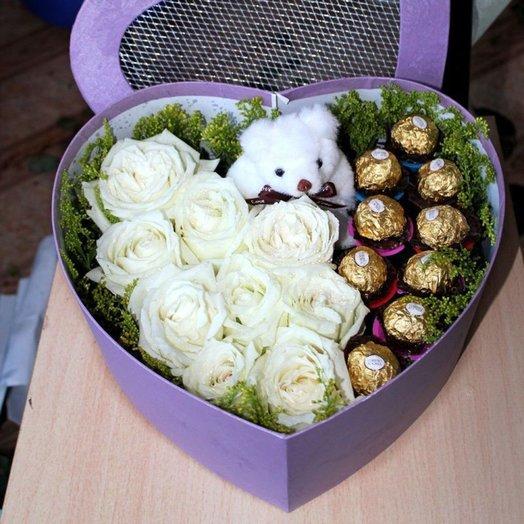 Северный мишка: букеты цветов на заказ Flowwow