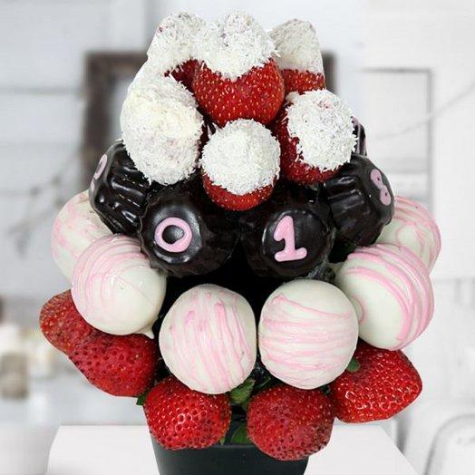 Фруктовый букет МОРОЗКО: букеты цветов на заказ Flowwow