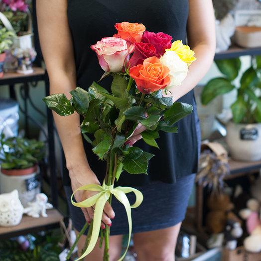 Букет из роз (7 роз): букеты цветов на заказ Flowwow