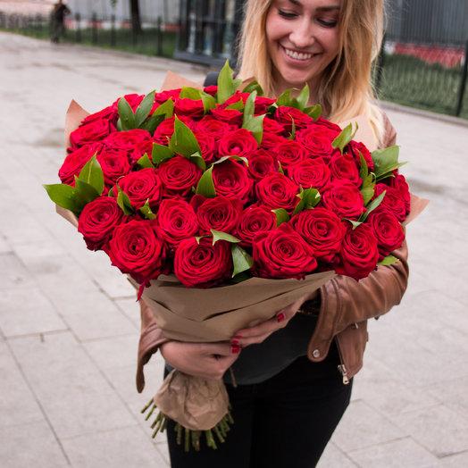 51 роза с рускусом