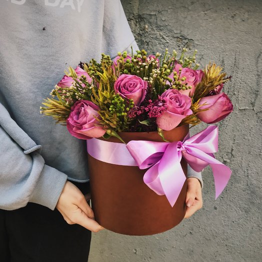 """Коробочка """"Осенний мотив"""": букеты цветов на заказ Flowwow"""